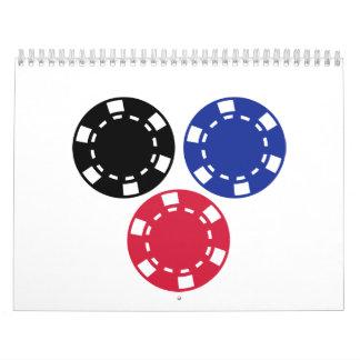 Poker chips gambling calendar