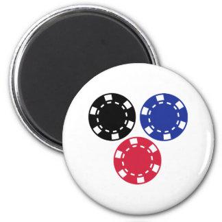 Poker chips gambling 2 inch round magnet