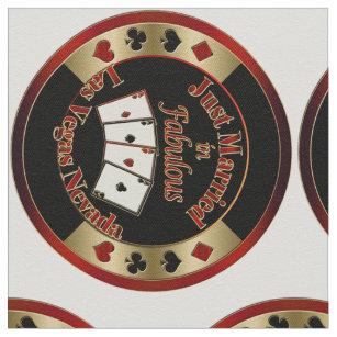 Poker Chips Just Married Fabulous Las Vegas II Fabric