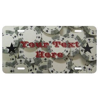 Poker Chips License Plate