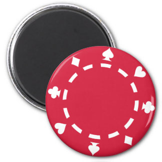 Poker chips refrigerator magnets