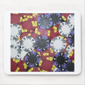 Poker Chips Mouse Pad