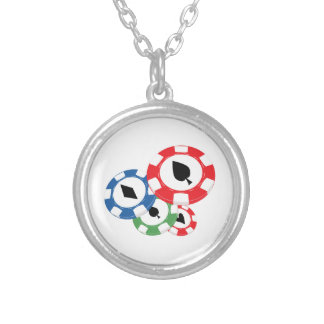 Poker Chips Personalized Necklace