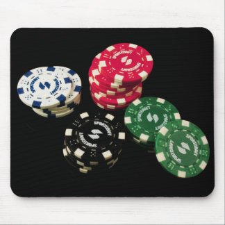 Poker Chips Pattern Mouse Pad