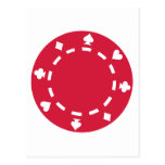 Poker chips post cards