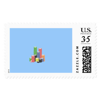 poker chips postage