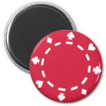 Poker chips refrigerator magnets