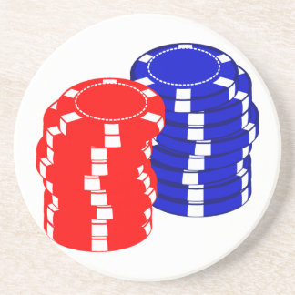 Poker Chips Sandstone Coaster