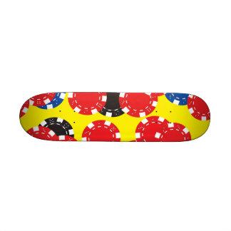 Poker Chips Skateboard Deck