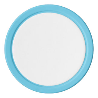 Poker Chips w/ Baby Blue Solid Edge