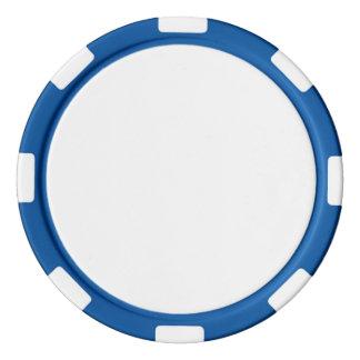 Poker Chips w/ Blue Striped Edge