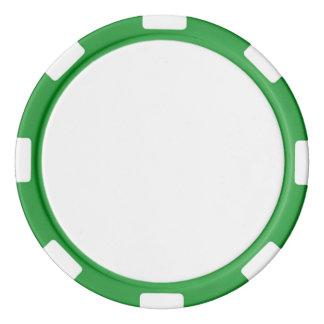 Poker Chips w/ Green Striped Edge