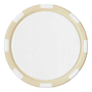 Poker Chips w/ Ivory Striped Edge