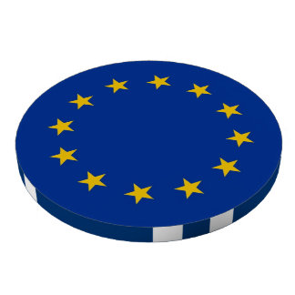 Poker chips with Flag of European Union Poker Chips Set