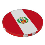 Poker chips with Flag of Peru Poker Chips Set