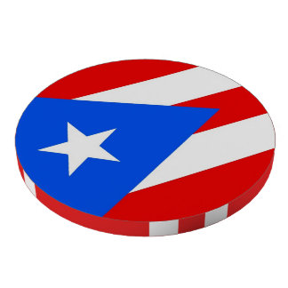 Poker chips with Flag of Puerto Rico