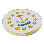 Poker chips with Flag of Rhode Island