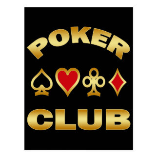 POKER CLUB POSTCARD