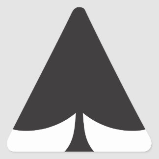 Poker Club Suit Playing Card Triangle Sticker