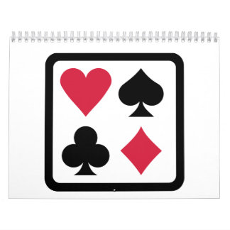 Poker colors calendar