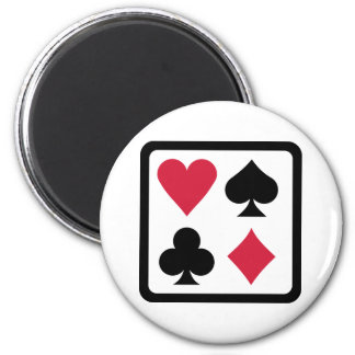 Poker colors 2 inch round magnet