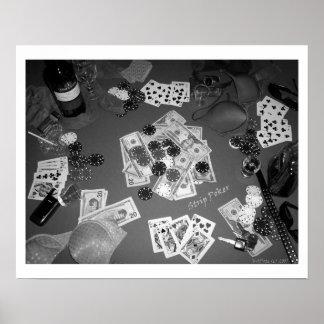 Póker de tira blanco y negro impresiones