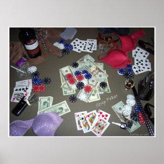 Póker de tira en color poster
