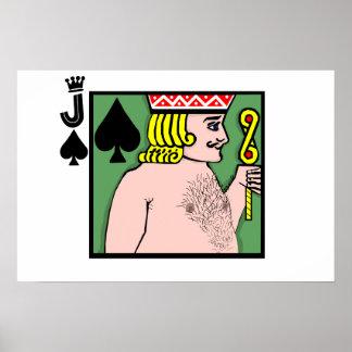 Póker de tira Jack de espadas Póster