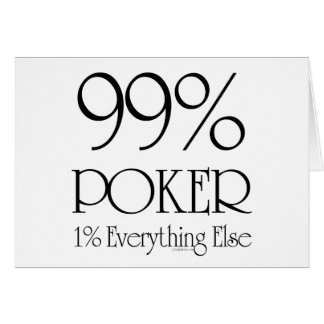 Póker del 99% tarjeta de felicitación