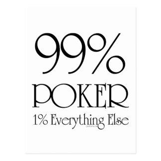 Póker del 99% tarjeta postal