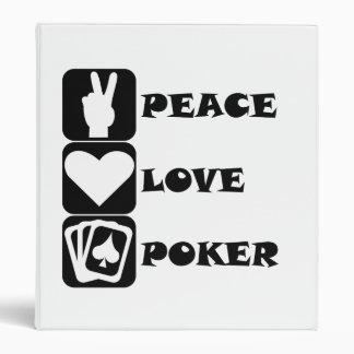Póker del amor de la paz