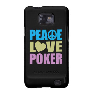 Póker del amor de la paz samsung galaxy s2 carcasa