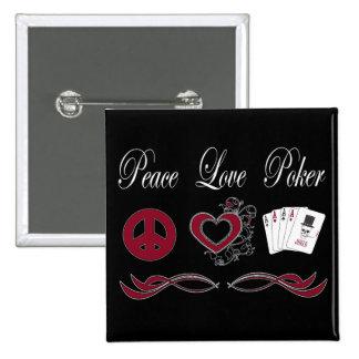 Póker del amor de la paz pin