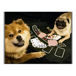 Póker del barro amasado postal