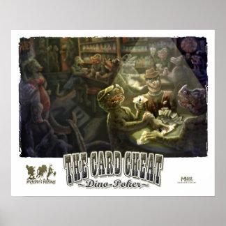 Póker del dinosaurio póster