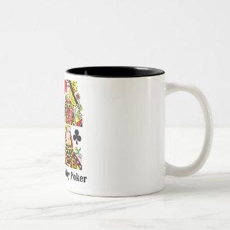 Póker del juego de las mujeres reales tazas de café