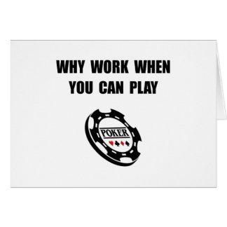 Póker del juego tarjeta pequeña