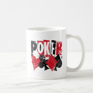POKER - DISTRESSED AND AGED STYLE COFFEE MUG