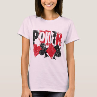 POKER - DISTRESSED AND AGED STYLE T-Shirt