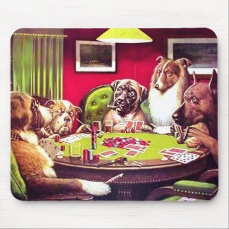 POKER DOGS:  A BOLD BLUFF MOUSE PADS