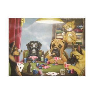 Poker dogs art