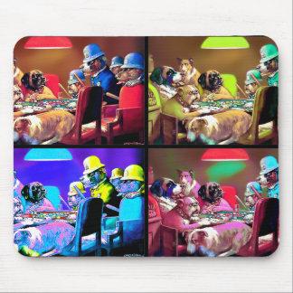Poker Dogs Pop Art Mouse Pad