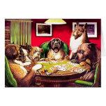 Poker Dogs:  Waterloo Greeting Card