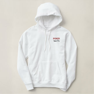 Poker Embroidered Hoodie