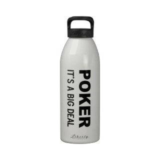 PÓKER es una gran cosa Botella De Beber