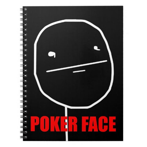 Poker Face - Black Notebook