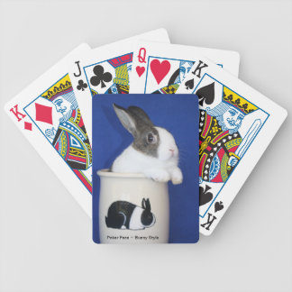 """""""Poker Face~Bunny Style"""" Bicycle Poker Deck"""