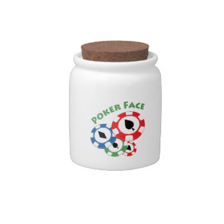 Poker Face Candy Jars