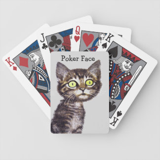 Poker Face Cat Playing Cards