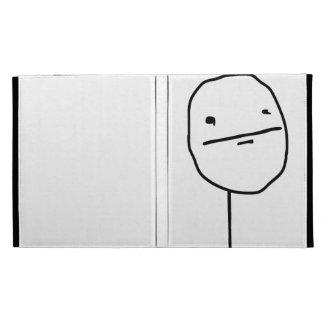 Poker Face Comic Face iPad Case